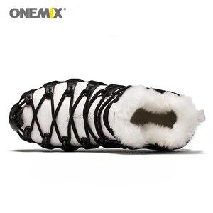Image 4 - حار Onemix الشتاء الرجال حذاء ارتحال مكافحة زلة أحذية مشي مريحة الدافئة في الهواء الطلق أحذية رياضية للنساء الشتاء حفظ الأحذية
