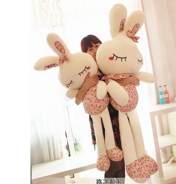 100cm-large-Plush Toys Bunny Dolls Stuffed Animals Rabbit Soft Toy with Gift Box, High Quality Gifts for Kids free shipping