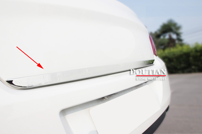 Tailgate Rear Door Bottom Cover Molding Trim Stainless Steel back door trim For peugeot 508 car Accessories for toyota rav4 2013 2014 2015 2016 tailgate rear door bottom cover molding trim stainless steel back door trim car accessories