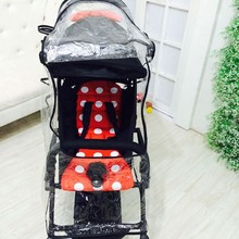 Baby stroller rain cover baby rainproof windproof full raincoat plus size lengthen yoya car umbrella general