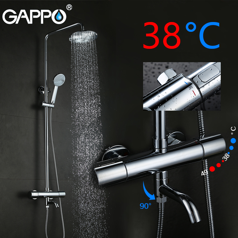 GAPPO shower faucet bathroom shower faucet thermostatic bath mixer tap bath faucet Waterfall Bath tub tap bath shower tap system