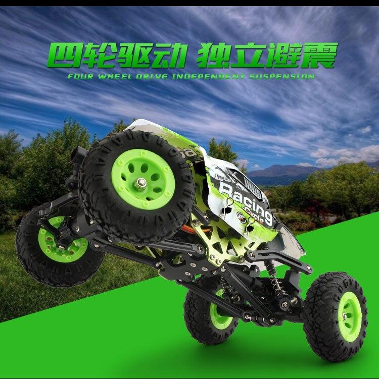 все цены на WLtoys 24438 1/24 2.4G 4WD Off-Road Remote Control Car Toys RTR Rock Crawler RC Racing Car Radio Controlled Free shipping