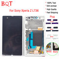 100% Test L36H LCD Frame For Sony Xperia Z L36h C6603 LCD Display Touch Screen With Digitizer Assembly With Frame