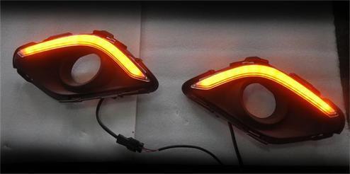 YENI! Mazda 6 M6 ATENZA 2013-14 için LED DRL Gündüz koşu sönük ve dönüş ışığı fonksiyonu iyi qualtiy hızlı nakliye