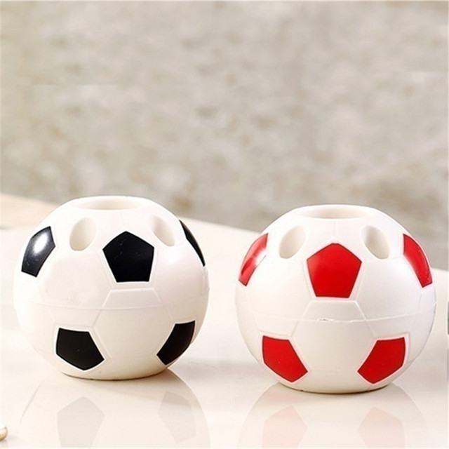 Football Shaped Toothbrush Holder Soccer Holder Toothbrush Seat for Desktop Storage Rack Bathroom for Table World Cup Gifts