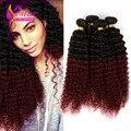 Brasileño de la virgen del pelo rizado rizado 300 g Yestar productos para el cabello 6A sin procesar Ombre brasileña virginal del pelo Ombre del pelo humano