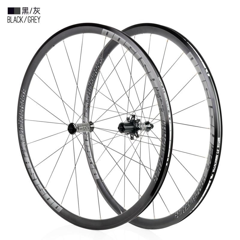 High quality Bicycle wheel 700C High 30mm Caliper Brake Aluminium alloy Road Bike wheelset 700c x19-32c tyre Front rear wheelset(China)