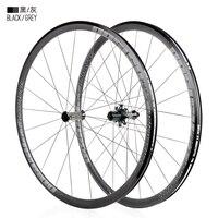 Hohe qualität Fahrrad rad 700C Hohe 30mm Sattel Bremse Aluminium legierung Rennrad laufradsatz 700c x19 32c reifen Vorne hinten laufradsatz|Fahrrad-Rad|   -