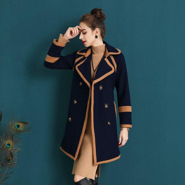 fd84883bc1996 Fashion Autumn Winter Trench Coat Runway Elegant Long 2017 Fall Womens  Outwear Windbreakers Coats Women Tweed