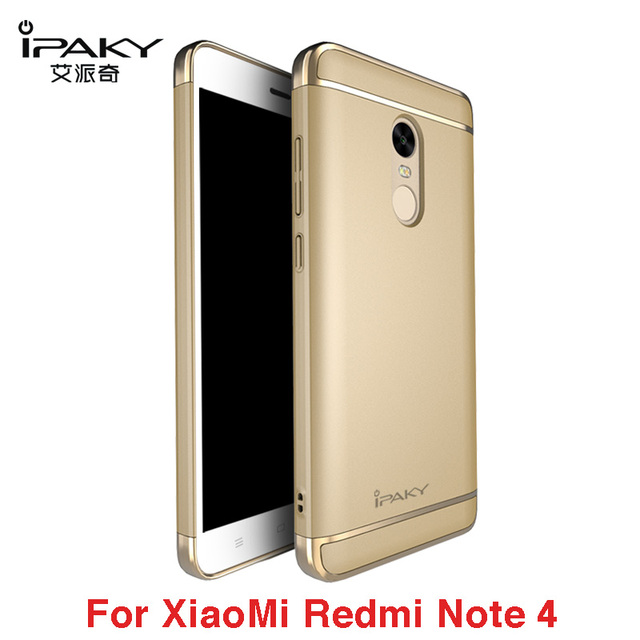 new product a036a 97dc5 US $7.91 28% OFF|ipaky Xiaomi RedMi Note 4 Case Luxury 3 IN 1 Plating  Shockproof Frosted Shield Hard Back Cover Case for Xiaomi Redmi Note 4  Pro-in ...