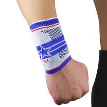 2 Pcs Kuangmi Five Star Fitness Protection Wrist Support Wristband Elastic Sport Wraps Brace Exercise Sweatband