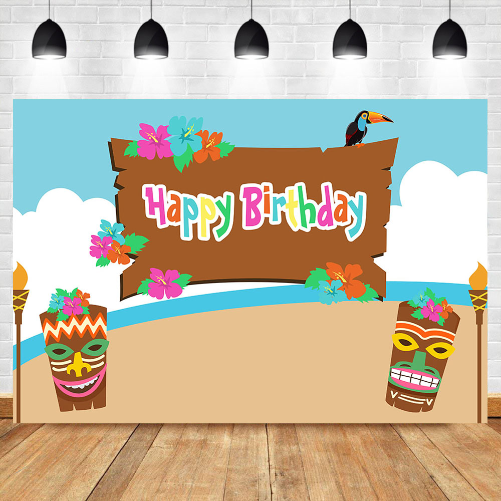 NeoBack Spring Flower Happy Birthday Party Photography Backdrops Blue Sky and White clouds Mysterious Mask Background for Photo in Background from Consumer Electronics