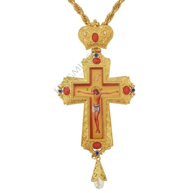 Высокое качество ручной крест-набор шнека золотой и серебряный цвет православная Россия крест русские ювелирные украшения пастор ремесленные принадлежности