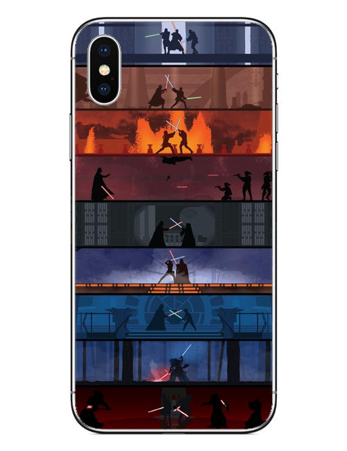 Star Wars Lightsaber Battles Phone Case For iPhone X 10 Hard PC Phone Bags Covers For iPhone 5 5S SE 6 6S Plus 7 7Plus 8 Plus