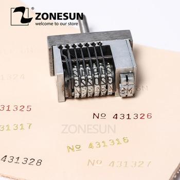 ZONESUN маленький набор для печати кода для горячей штамповки машина для печати номер купона номер набора кодирования