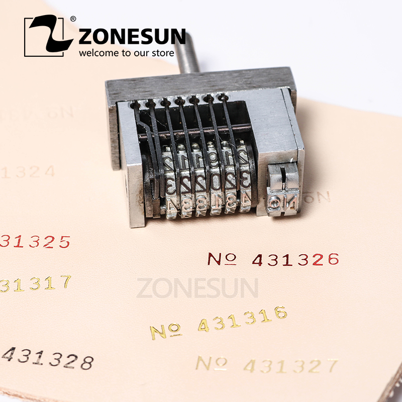 ZONESUN Small Dialling Code Printing Tool For Hot Stamping Machine Printing Production Number Coupon Number Dial Coding