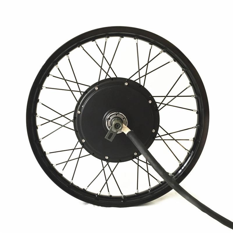 """QS V3 elektrikli velosiped hub motor təkəri 16 """"17"""" 18 """"19"""" motosiklet təkərində 10kw pik gücü"""