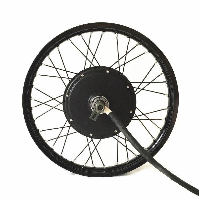 QS V3 roue de moteur de moyeu de vélo électrique 10kw puissance maximale sur roue de moto 16
