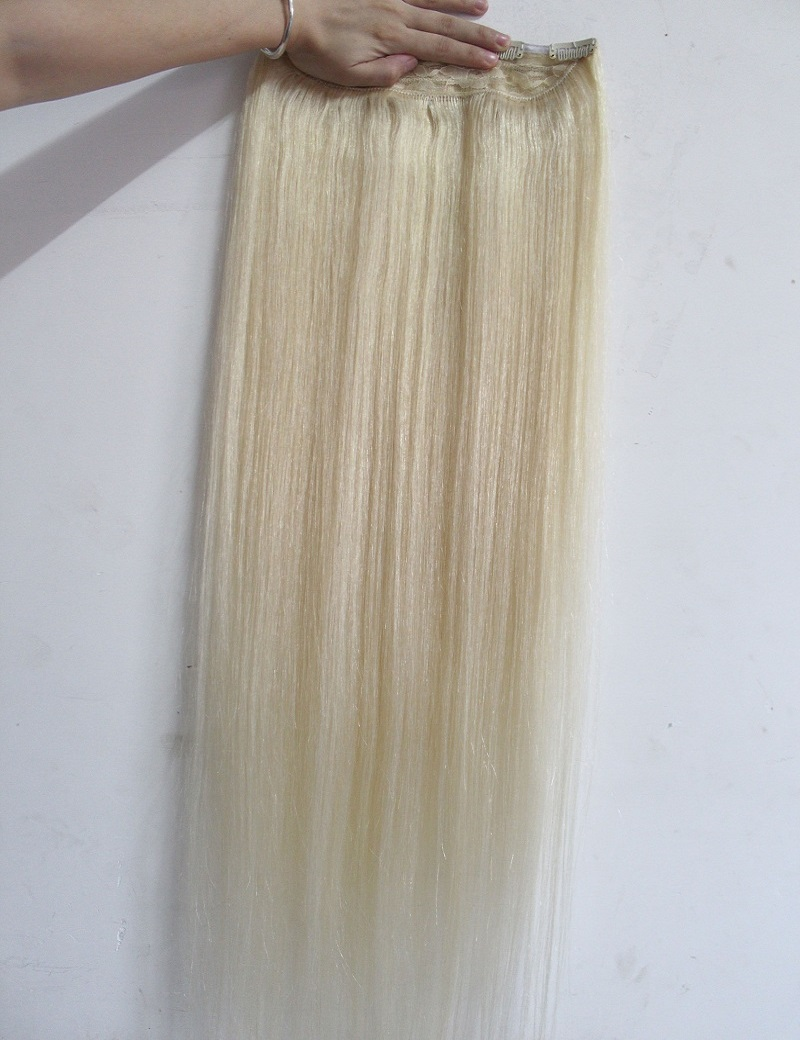 "16""-32"" 1Pcs Set Single Hairpieces 100% Brazilian Human Hair Clips In/on Extensions #60 70g 80g 100g 120g 140g 160g"