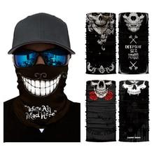 все цены на Skull Face Mask Half Sun Dust Wind Protection, 3D Tube Mask Seamless Durable Face Mask Bandana Headwear Skeleton Face Mask Motor онлайн