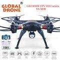 Global drone gw180 profissional zangão quadcopter rc altura modo hold pode vir com câmera 2.0mp, Câmera FPV Quadrocopter VS X8W