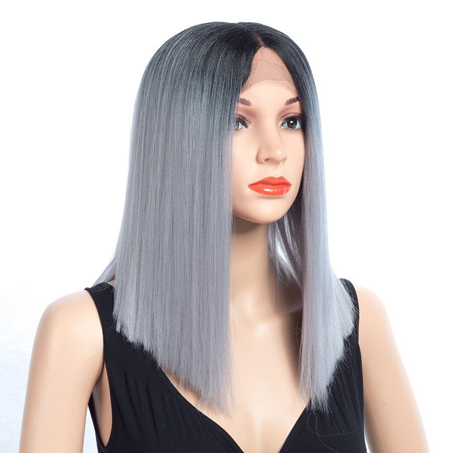Aigemei Fiber Glueless Long Straight Ombre Colors - Синтетические волосы - Фотография 5