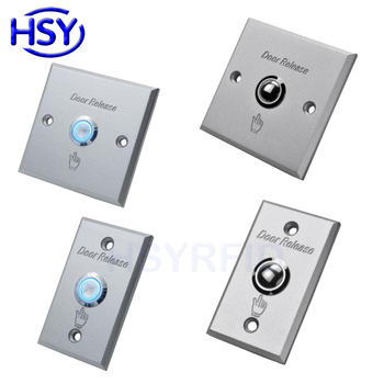 Aluminum Door Release Exit Button Sensor Switch Gate Door Access Controller Push Buttons image