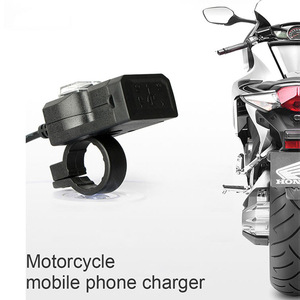 Image 3 - Dual USB Port 12V Waterproof Motorbike Motorcycle Handlebar Charger 5V 2A Adapter Power Supply Socket for Phone Mobile charger