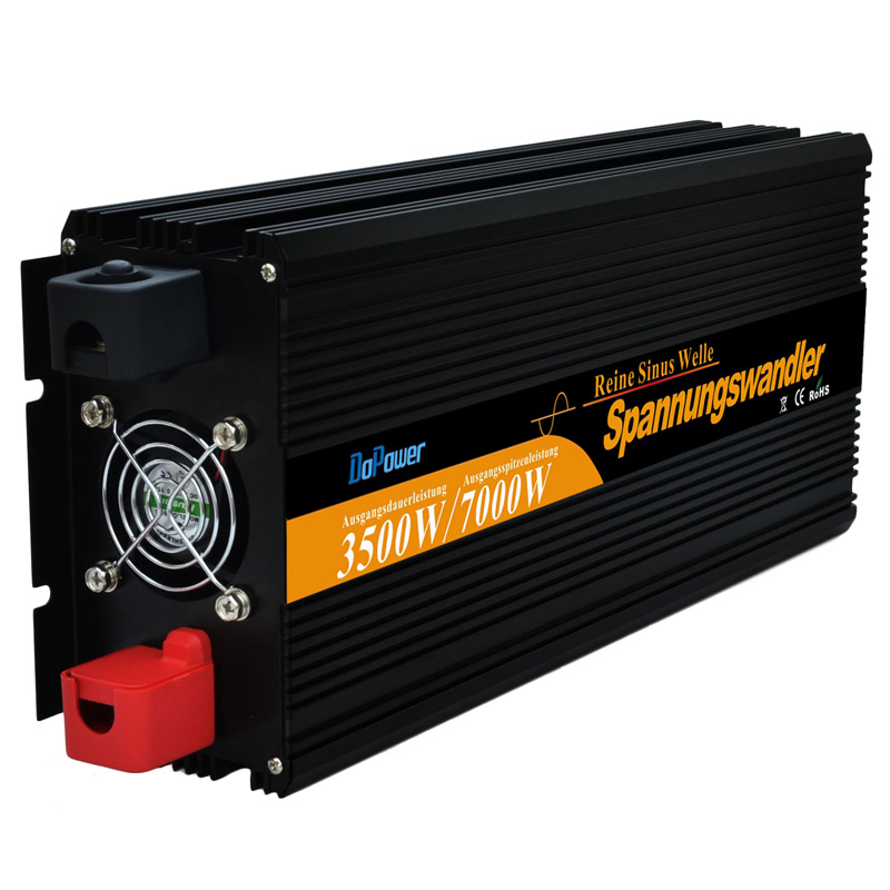 3500W Pure Sine Wave Power Inverters/converters DC 12V to AC 220v 230V