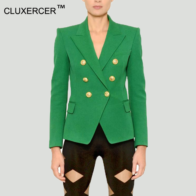 Online Get Cheap Double Breasted Suit Jacket Green Women ...