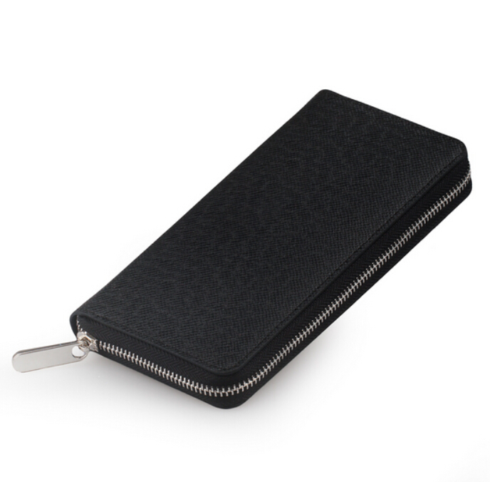Men Wallet Genuine Leather Dull Polish Purse Fashion Casual Long Business Male Clutch Wallets Carteira Masculina