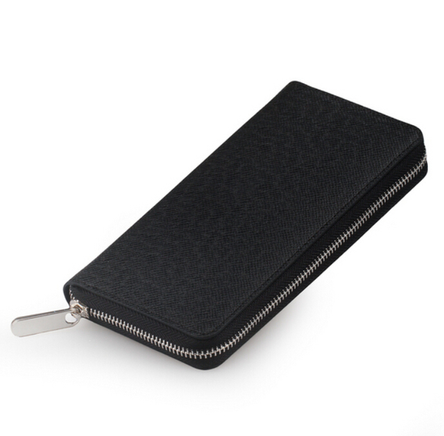 Men Wallet Genuine Leather Dull Polish Purse Fashion Casual Long Business Male Clutch Wallets Carteira Masculina Billeteras