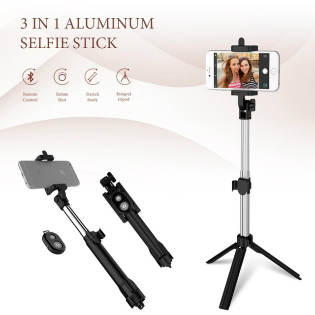 Hot sell Tripod Selfie Stick Bluetooth Foldable Selfiestick For iPhone 5 5S 6 6S 7 Plus X Samsung Xiaomi Hua wei Remote Handheld