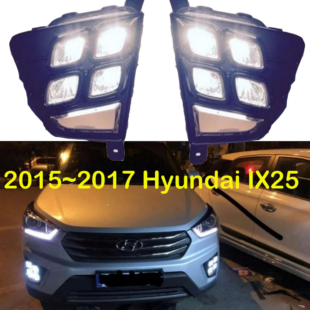 Car-styling,IX25 daytime light,2015~2016,chrome,LED,Free ship!2pcs,car-detector,IX25 fog light,car-covers,Tucson,IX 25,IX 35 cut out back daisy print blouse