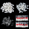 Hot sale 500 pcs Full Round False Nail Art Tips  Acrylic UV Gel Nail Tips #Clear/Natural/White
