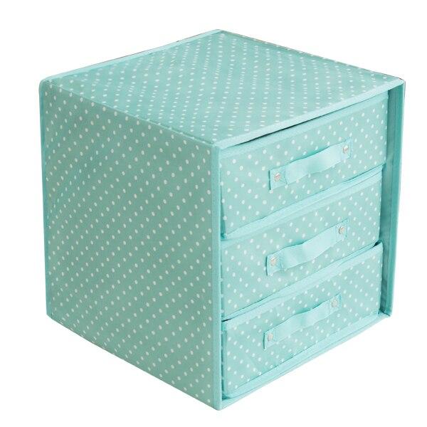 New Non Woven Fabric Folding Underwear Storage Box Bedroom: Drawer Type Underwear Storage Box To Put Layer 3 Non Woven