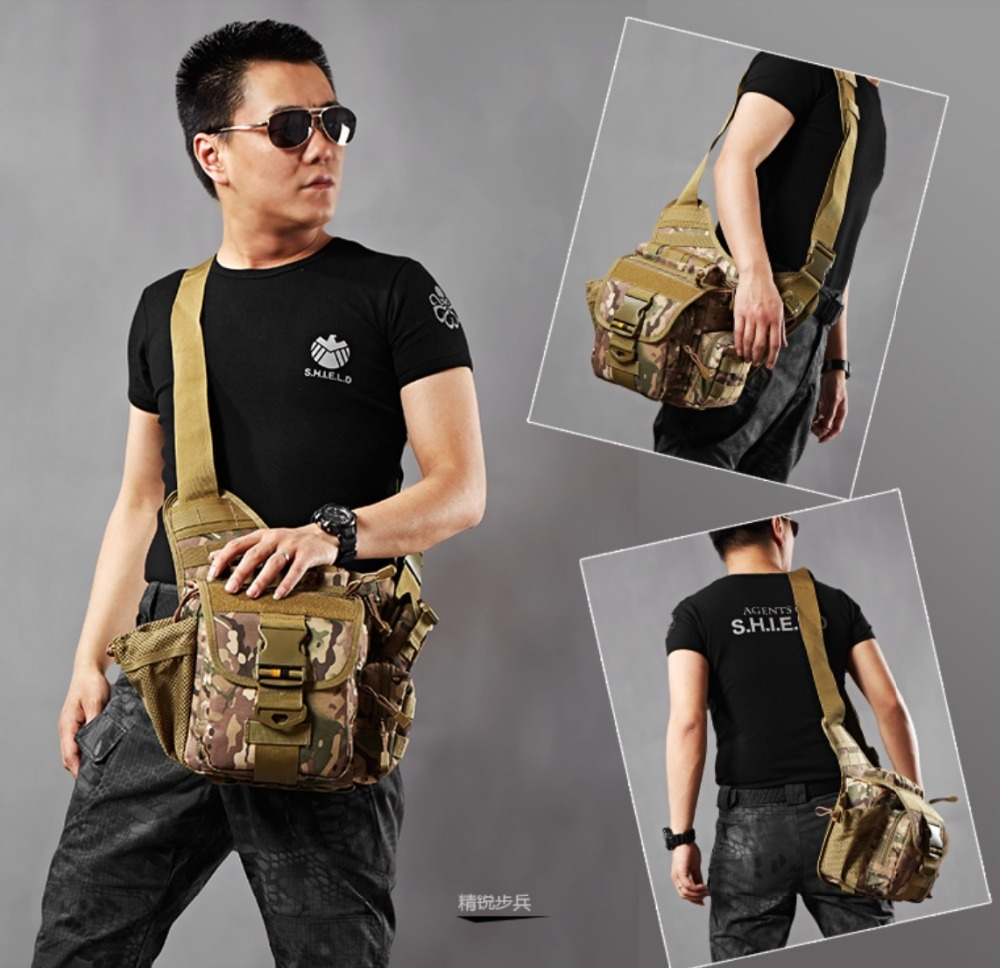 Outdoor Hiking Man Bag Military Army Tactical Shoulder Bags Multifunctional Slr Messenger Bag Cross-Body Bag Camouflage outdoor mens military waterproof 1000d nylon handbag camouflage shoulder bag hunting tactical removable messenger bags