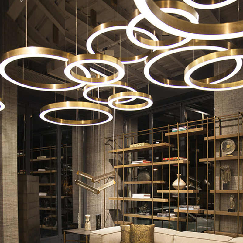 Luxurious Led Chandeliers Round Shaped