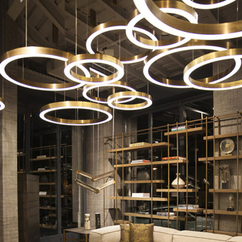 Luxurious LED chandeliers round-shaped combination for office hotel lobby restaurant parlor club home light fixtures Chandeliers