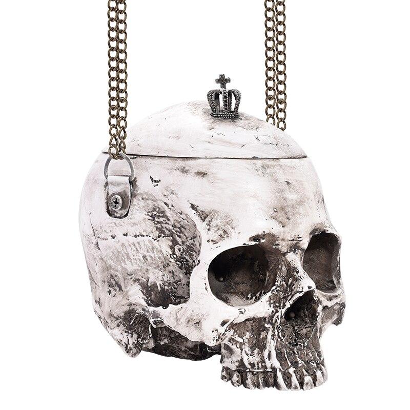 Gothic Crown & Skull Cross-Body Shoulder Bag