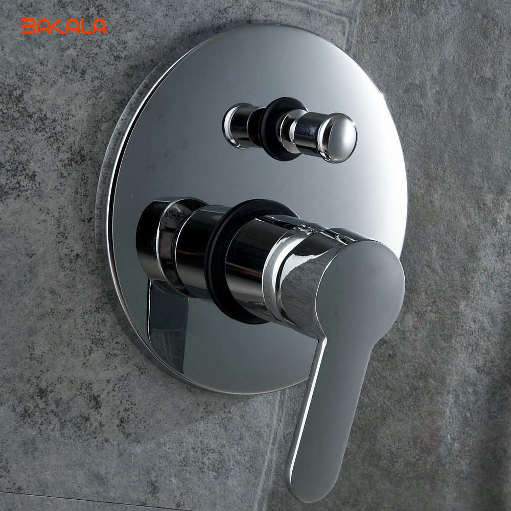 Single Handle Round Shape Solid Brass Wall Mount Shower Mixer ...