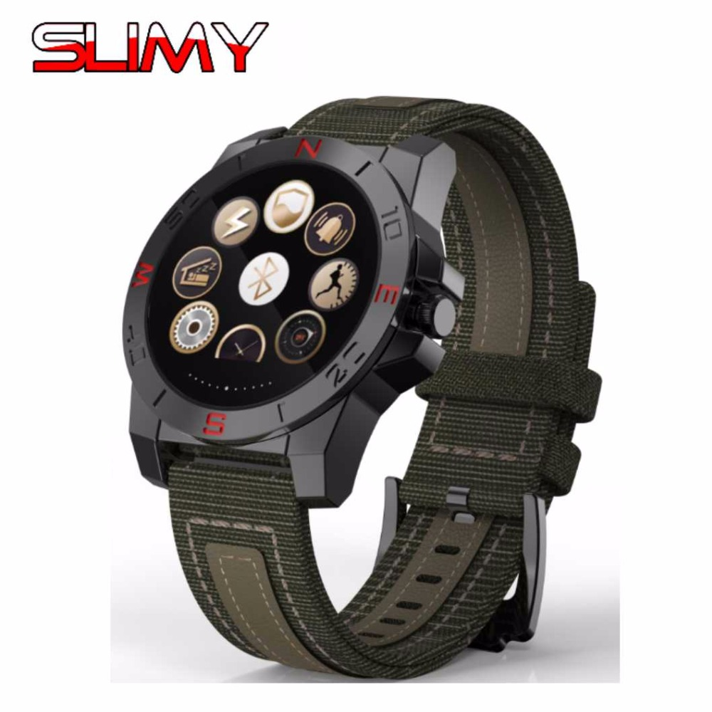 Slimy N10B Smart Watch Outdoor Sport Smartwatch with Heart Rate Monitor Compass Waterproof Bluetooth Watch for IOS Android Phone цена