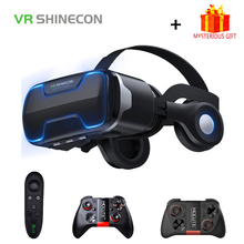VR Shinecon G02ED Helmet 3D Glasses Virtual Reality Headset For iPhone Android Smartphone Smart Phone Goggles Casque Lunette Ios цена