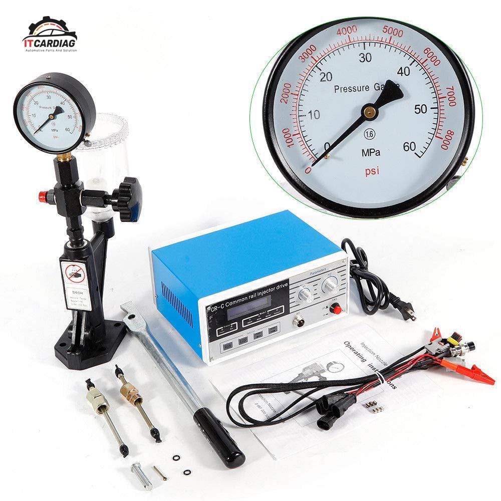 Testeur d'injecteur ensemble complet CR-C multifonction professionnel Diesel injecteur à rampe commune testeur outil + S60H combinaison de buse de carburant