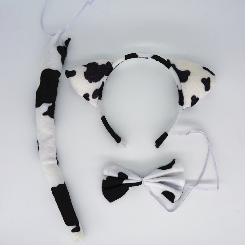 ツ)_/¯2018 leche oído diadema animal pajarita tail Cosplay apoyos ...