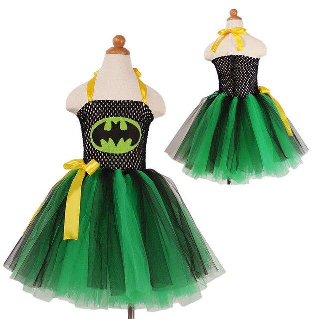 Mode grün schwarz cartoon charactor tutu kostüm mädchen partei kleid ...