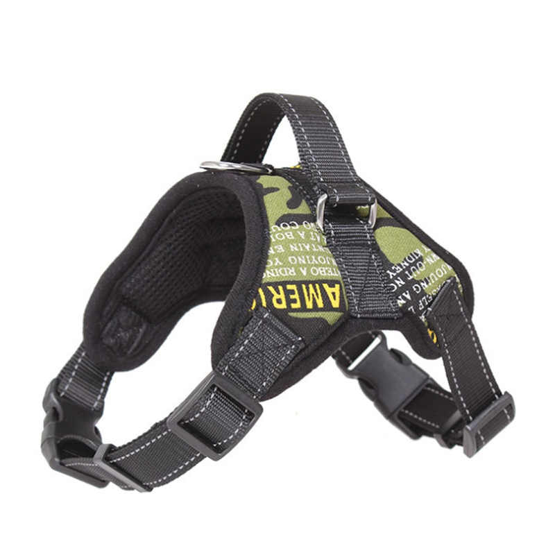 K9 Reflektif Rompi Kerah kecil Menengah Besar Dog Harness Harness Untuk Anjing Pet Pelatihan Alaska Husky Bulldog Payudara-band
