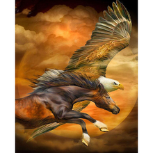 Eagle and horse diamond Embroidery diy painting mosaic diamant 3d cross stitch pictures H825