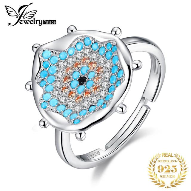 Blue Nano Simulated Turquoise Ring