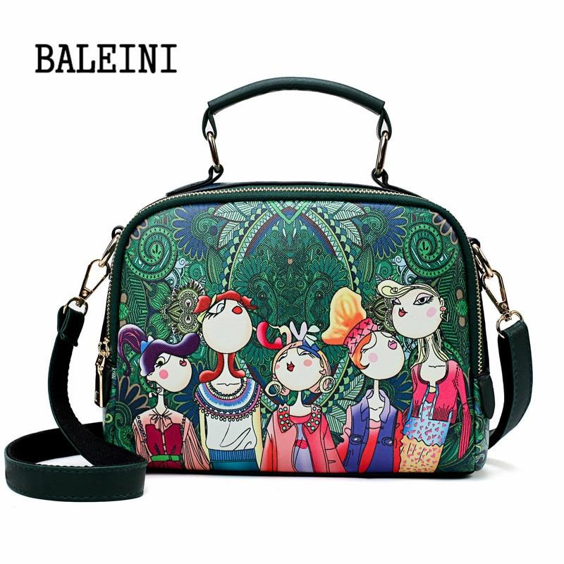 2019 Summer Fashion Women Bag Cartoon Character Handbags PU Shoulder Bag Small Flap Crossbody Bags For Women Messenger Bags